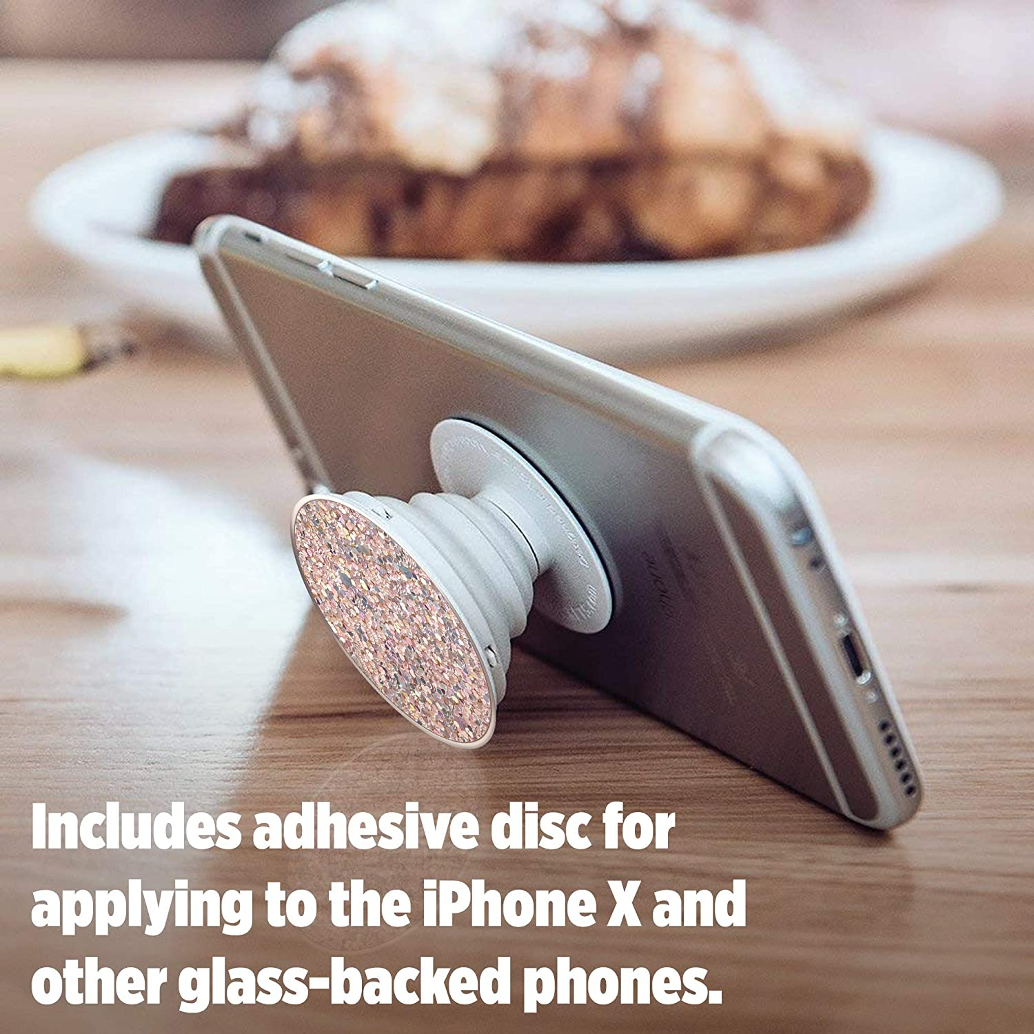 Sparkle Rose PopSockets Collapsible Grip /& Stand for Phones and Tablets