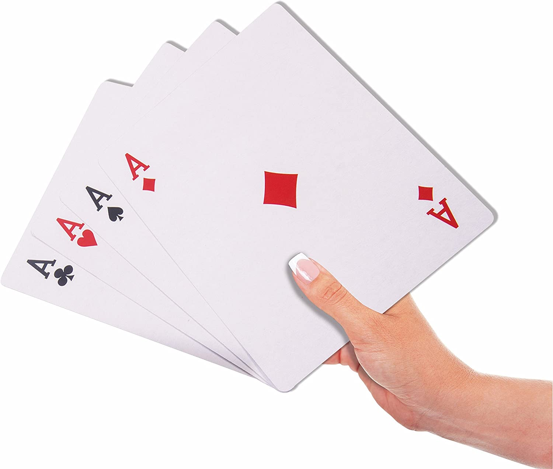 Forum Novelties Jumbo Face Extra Large Playing Cards-4.75