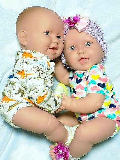 Amazon Com Cute Baby Dolls Reborn Berenguer Preemie Soft Vinyl Newborn 17 Inches Realistic For Children Party Twin Babies Boy Girl Dolls Soft Vinyl Newborn 17 W Hooded Towel Toys Games