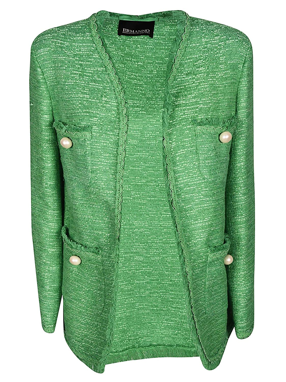 Ermanno Women's CP07STU643 Green Cotton Jacket