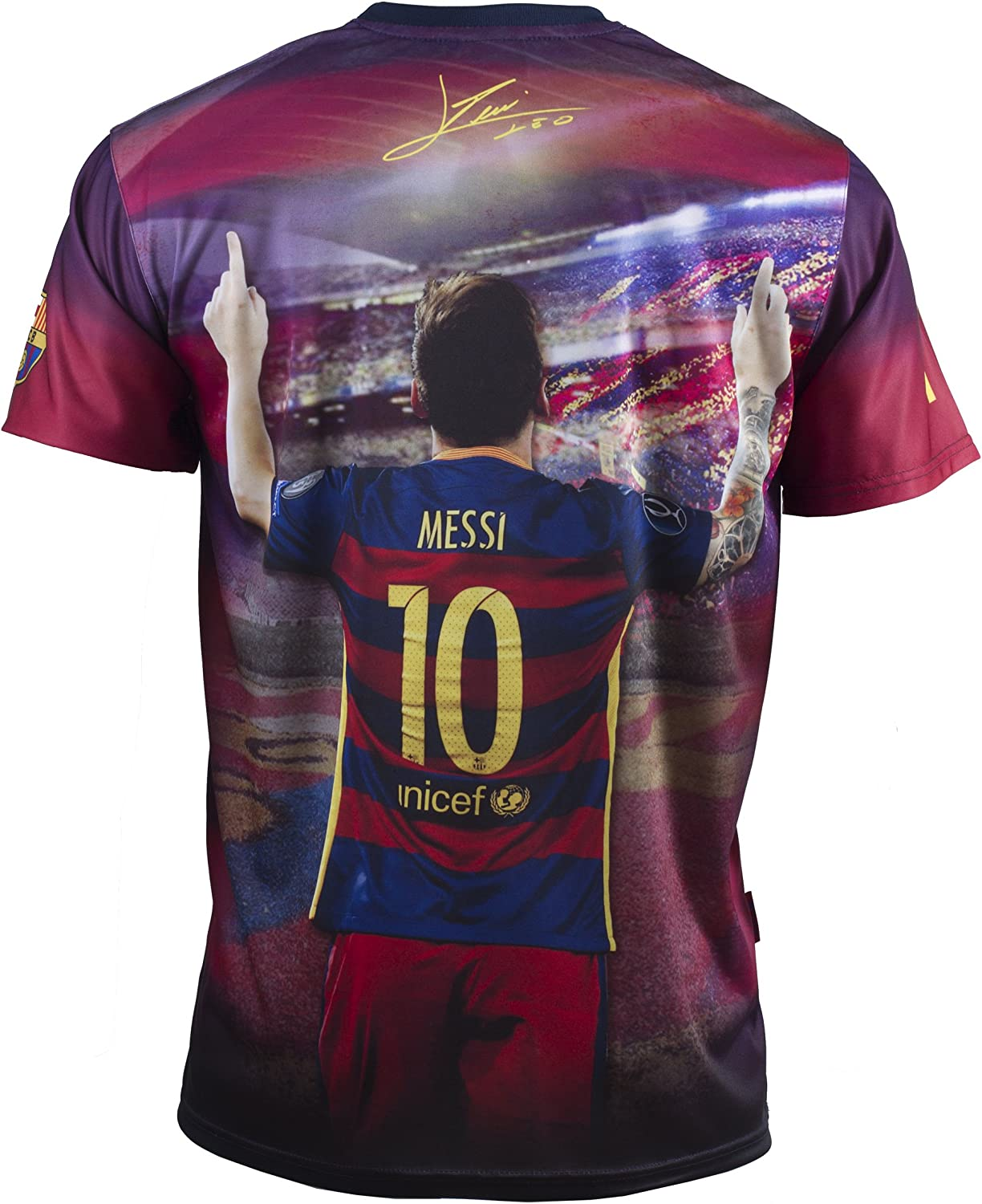 FC Barcelona Lionel Messi Official Collection Mens Shirt