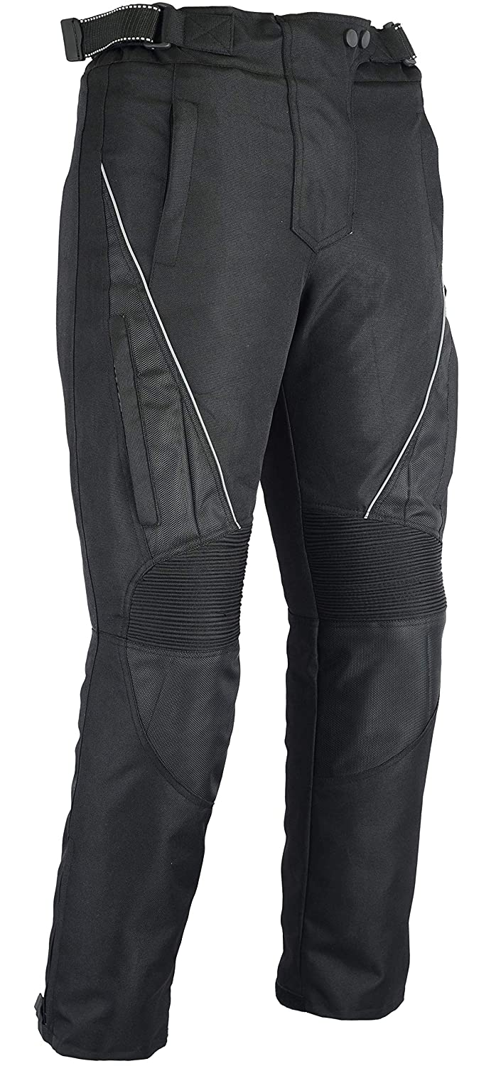 Australian Bikers Gear UK Australian Bikers Gear Jazz nero CE blindata ventilato pantaloni Cordura impermeabile donna UK 8S EU XS Short