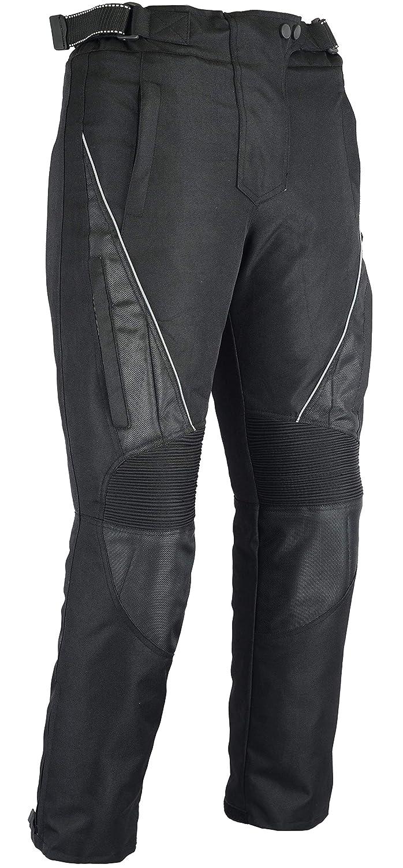 Australian Bikers Gear Jazz Negro CE Armoured Ventilado Cordura Mujer Pantalones Impermeables