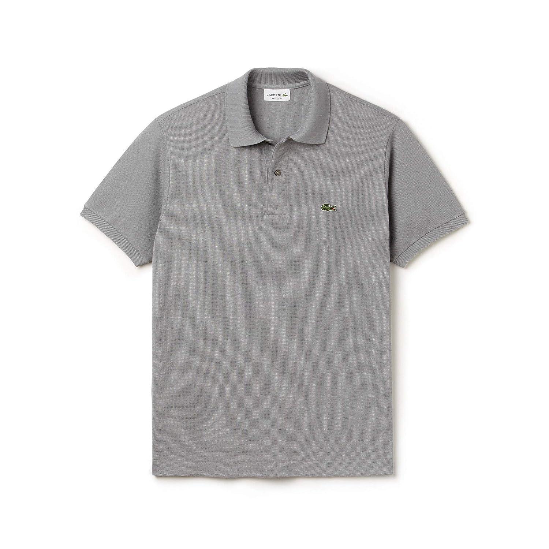 gris (Platine Kc8) L Lacoste - L1212 - Polo - Coupe droite - Manches courtes - Homme