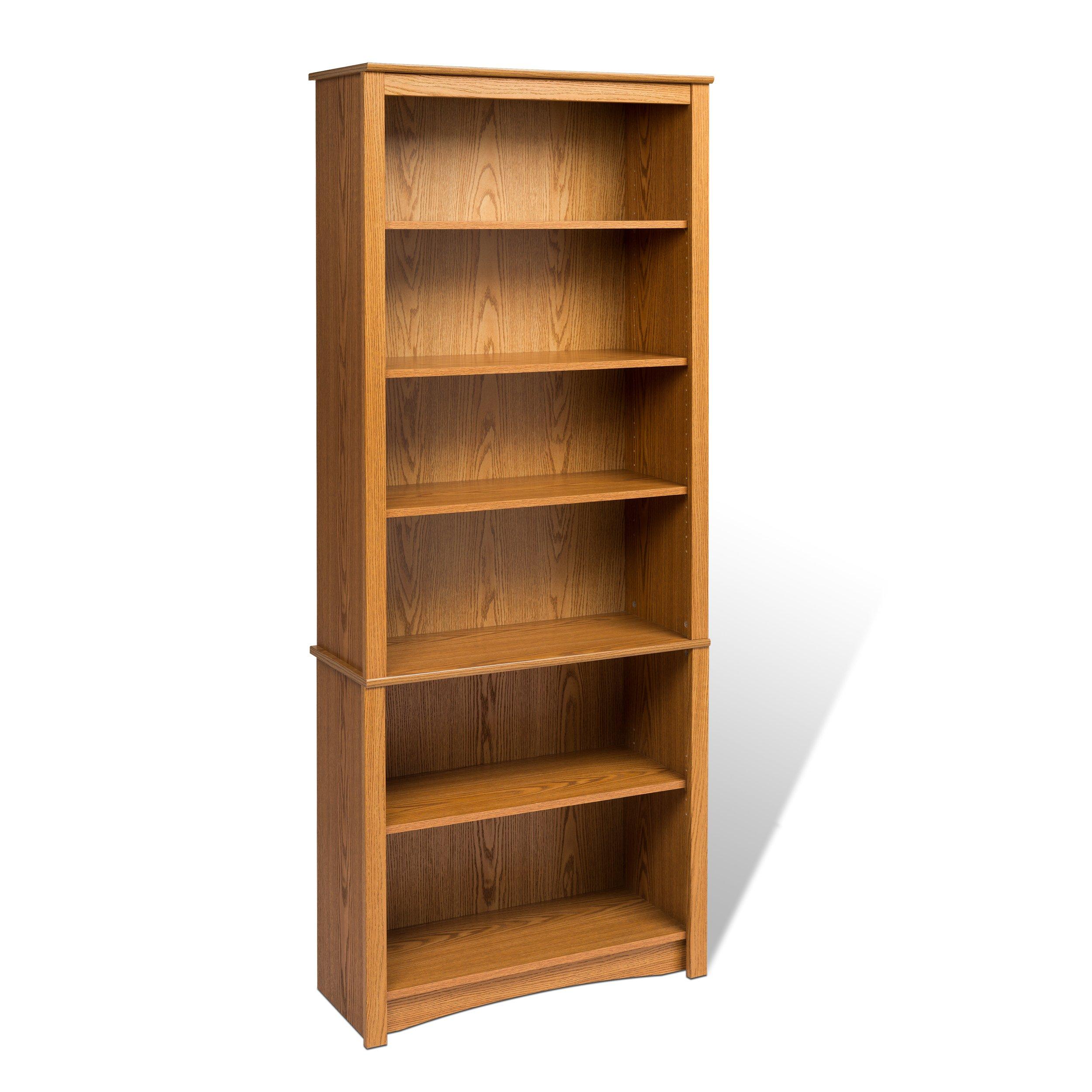 Oak 6-shelf Bookcase
