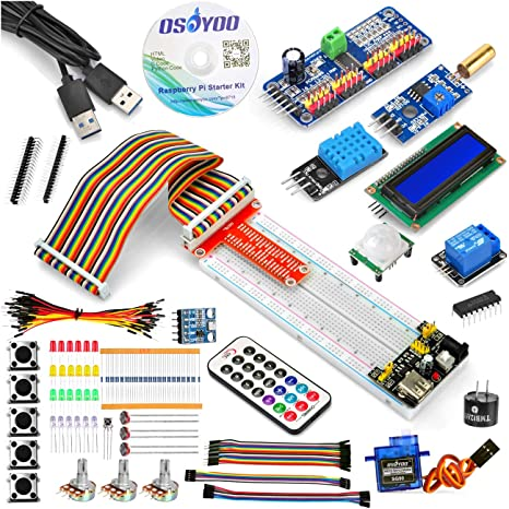 amazon com osoyoo raspberry pi 3 3b zero w starter kit diyosoyoo raspberry pi 3 3b zero w starter kit diy electronic rpi learning kit for beginner