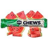 GU Energy Chews Double-Serving Sleeve, Watermelon, 18-Count
