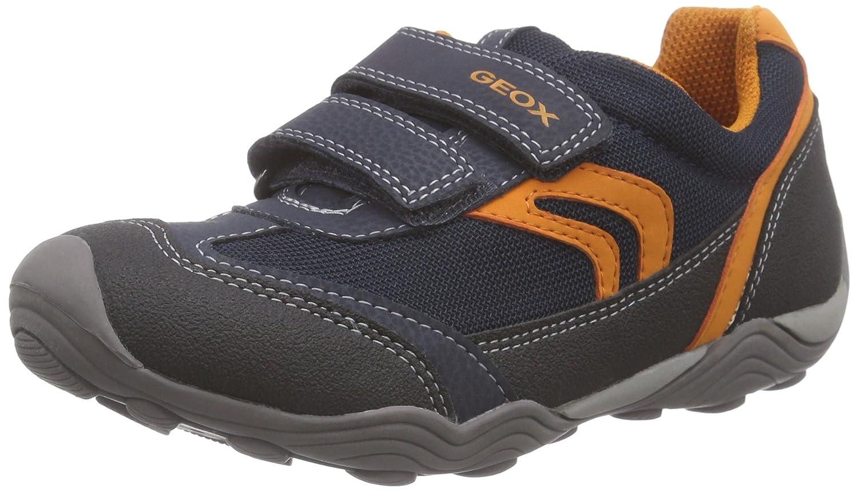 Geox Boys' Jr Arno Sneaker J42F0B Navy/Orange Synthetic/Mesh EU 27 M Imported J42F0B014CE