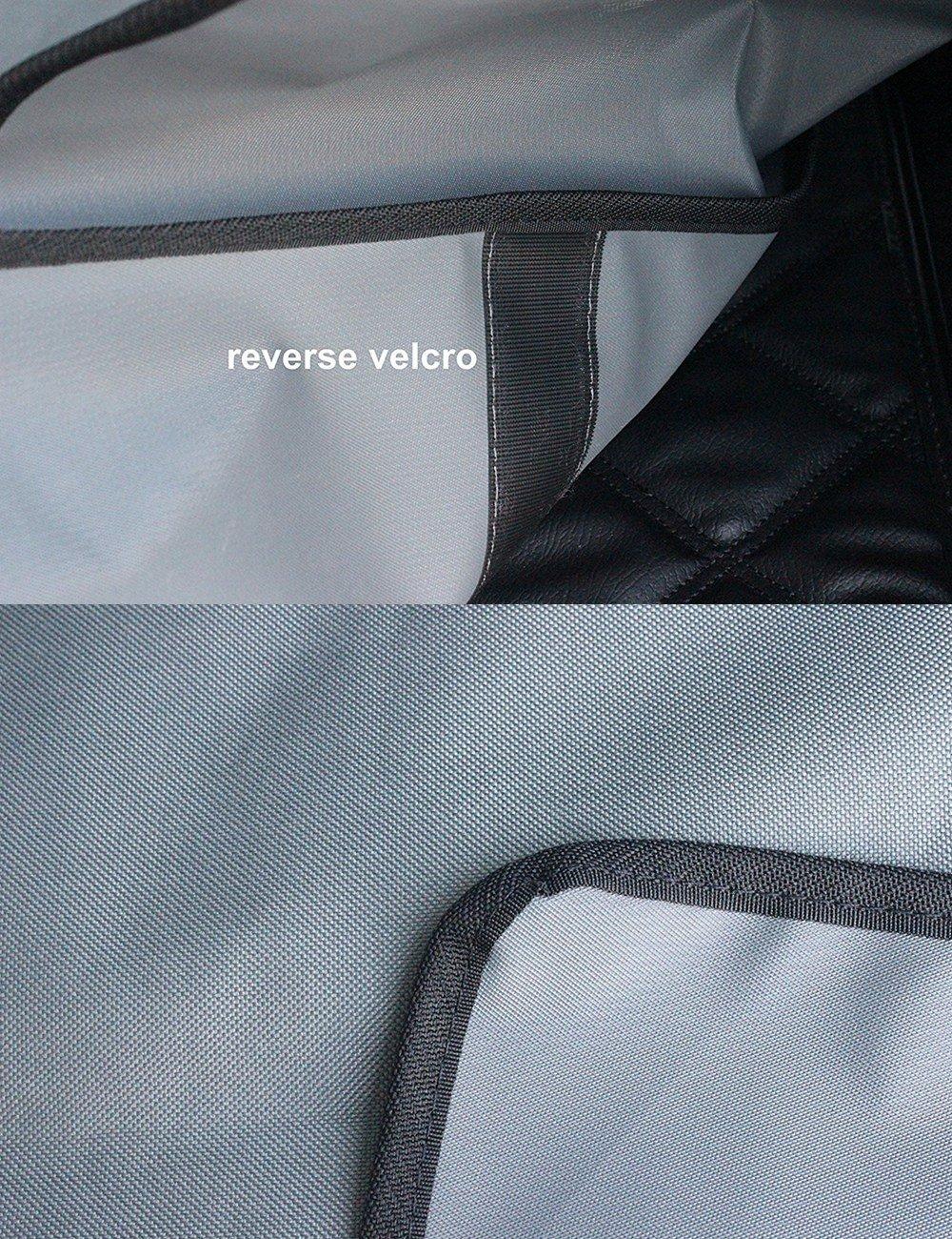 HCMAX Luxus Hund Autositz/überzug Haustiere H/ängematte Cabrio Abdeckung Wasserdicht R/ücksitzbez/üge mit Seitenklappen f/ür Auto SUV LKW