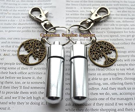 Urna de plata Personal llavero/recuerdo con árbol de la vida ...