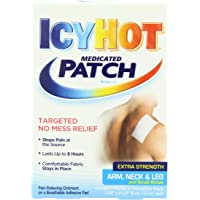 Icy Hot Extra Strength Medicated Patch, Small, 5-Count Boxes (Pack of 3)