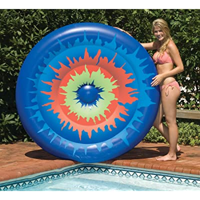 Swimline Tie Dye Island Inflatable Pool Toy: Garden & Outdoor