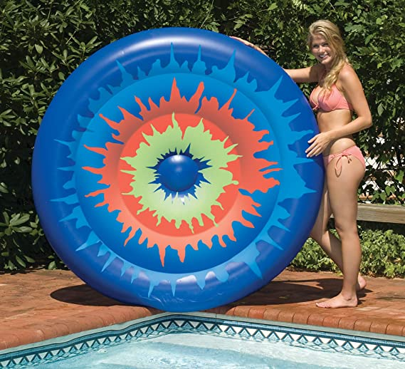 Amazon.com: Swimline Tie Dye Isla inflable piscina Juguete ...