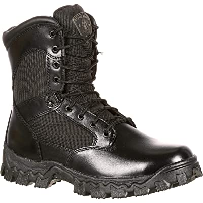 """Rocky FQ0002165 8"""" Alpha Blk Waterproof Extra Wide 9.5 Duty Boots   Boots"""