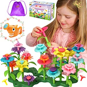 Axel Adventures Flower Garden Building Toy,Stem Toys for 3 Year Old | Flower Building Toy Set | Build A Garden Stem Toy | Girl Toy Age 2-3 Years Old, Flower Garden Building Toys Toddler