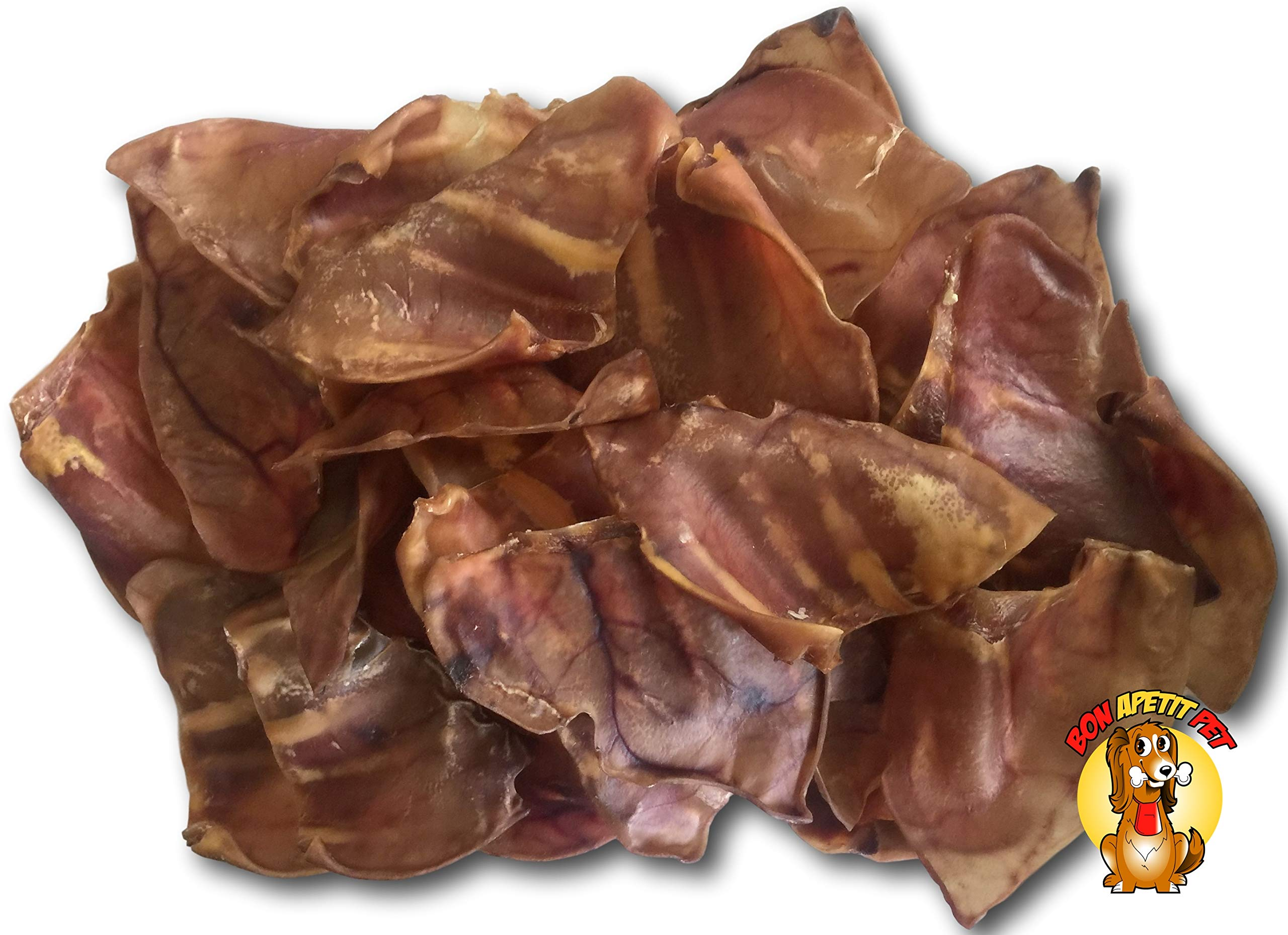 Bon Apetit Pig Ears Dog Chews - 100 Count/Box