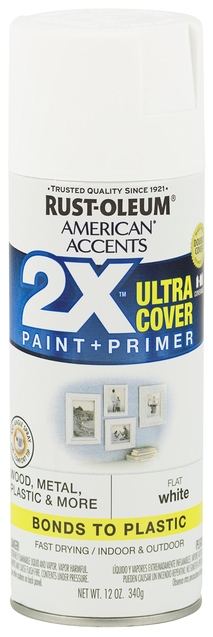 Rust-Oleum 327868 American Accents Spray Paint, 12 oz, Flat White