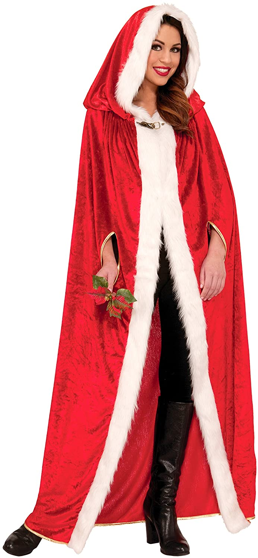 Amazon.com: Forum Novelties Women's Elegant Christmas Cape, Red ...