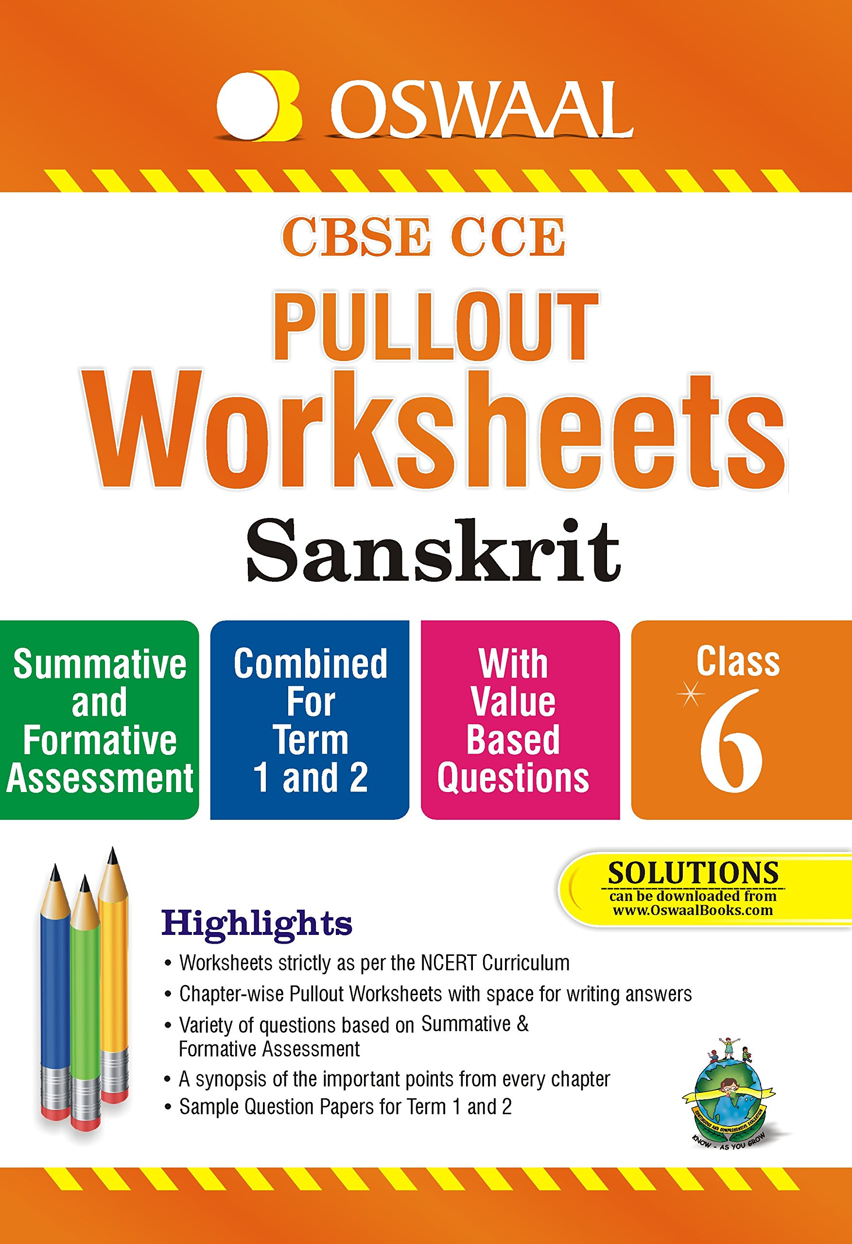 Oswaal CBSE CCE Pullout Worksheets Sanskrit for Class 6 Old Edition ...