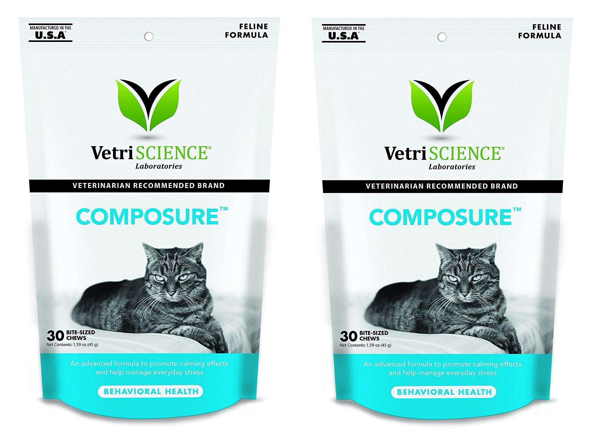 VetriScience Laboratories Composure, Calming Formula for Cats Size:60 Bite-Sized Chews