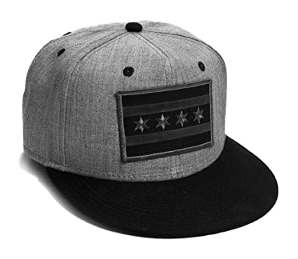 strange cargo flag cap flat brim grey black snap back baseball hat chicago caps hats bulls uk