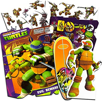 - Amazon.com: Teenage Mutant Ninja Turtles Ultimate Activity Set -- TMNT  Magnetic Wooden Figure, Coloring Book, Stickers And Temporary Tattoos: Toys  & Games