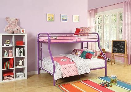 Amazon.com: ACME Tritan Purple Twin over Full Bunk Bed: Kitchen & Dining