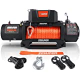 ZESUPER 9500 lbs Capacity Electric Winch Kit Waterproof IP67 Electric Winch Hawse Fairlead, with Both Wireless Handheld Remot