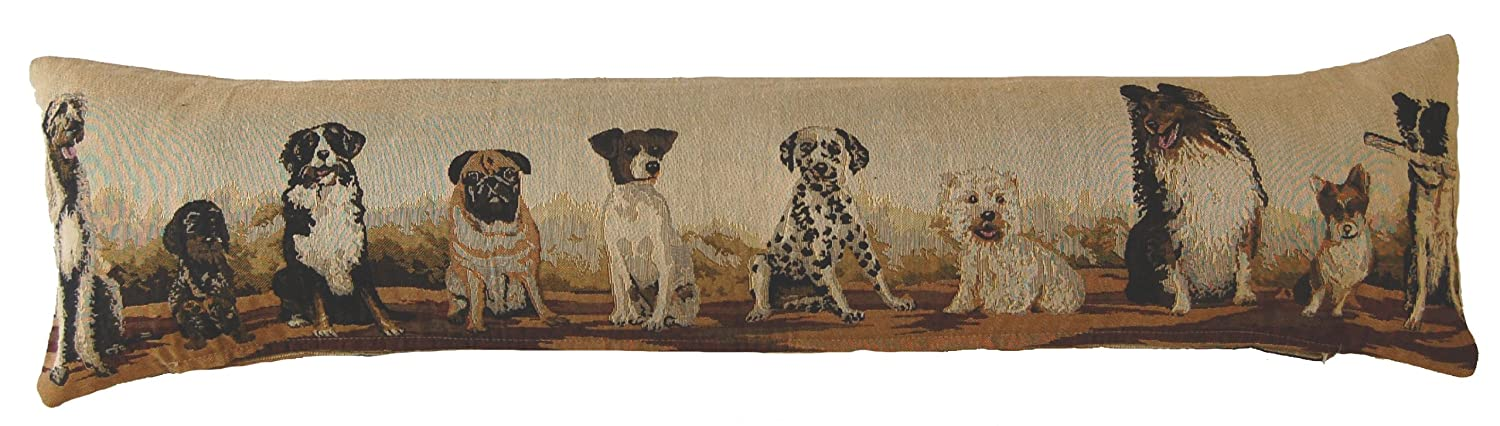 Mixed Breeds Dogs Double Sided Pattern Tapestry Fabric Draught Excluder (90x17cms approx) MIXE-DE-BRE