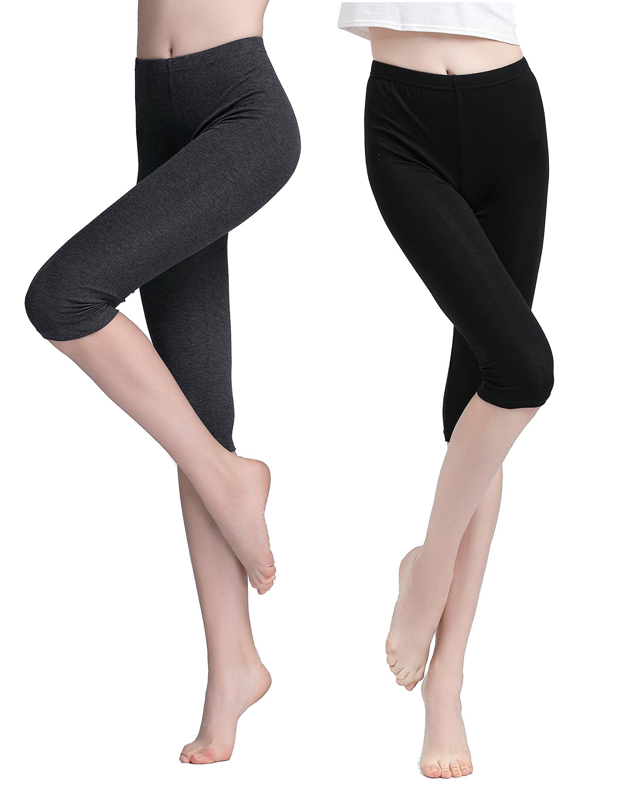 Vinconie Women Activewear Capris Stretchy Exercises Sexy Workout Leggings Soft by Vinconie (Image #1)