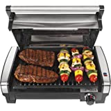 Hamilton Beach Electric Indoor Searing Grill with Viewing Window and Removable Easy-to-Clean Nonstick Plate