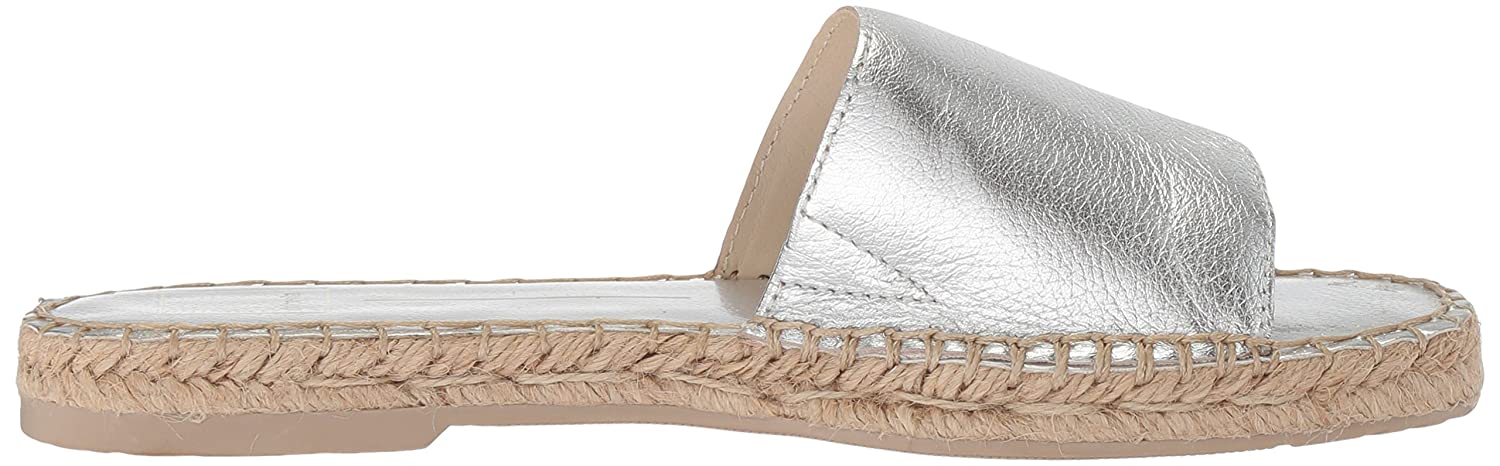 Dolce Vita Women's Bobbi Slide Sandal B077QJ3W4C 9 B(M) US|Silver Leather