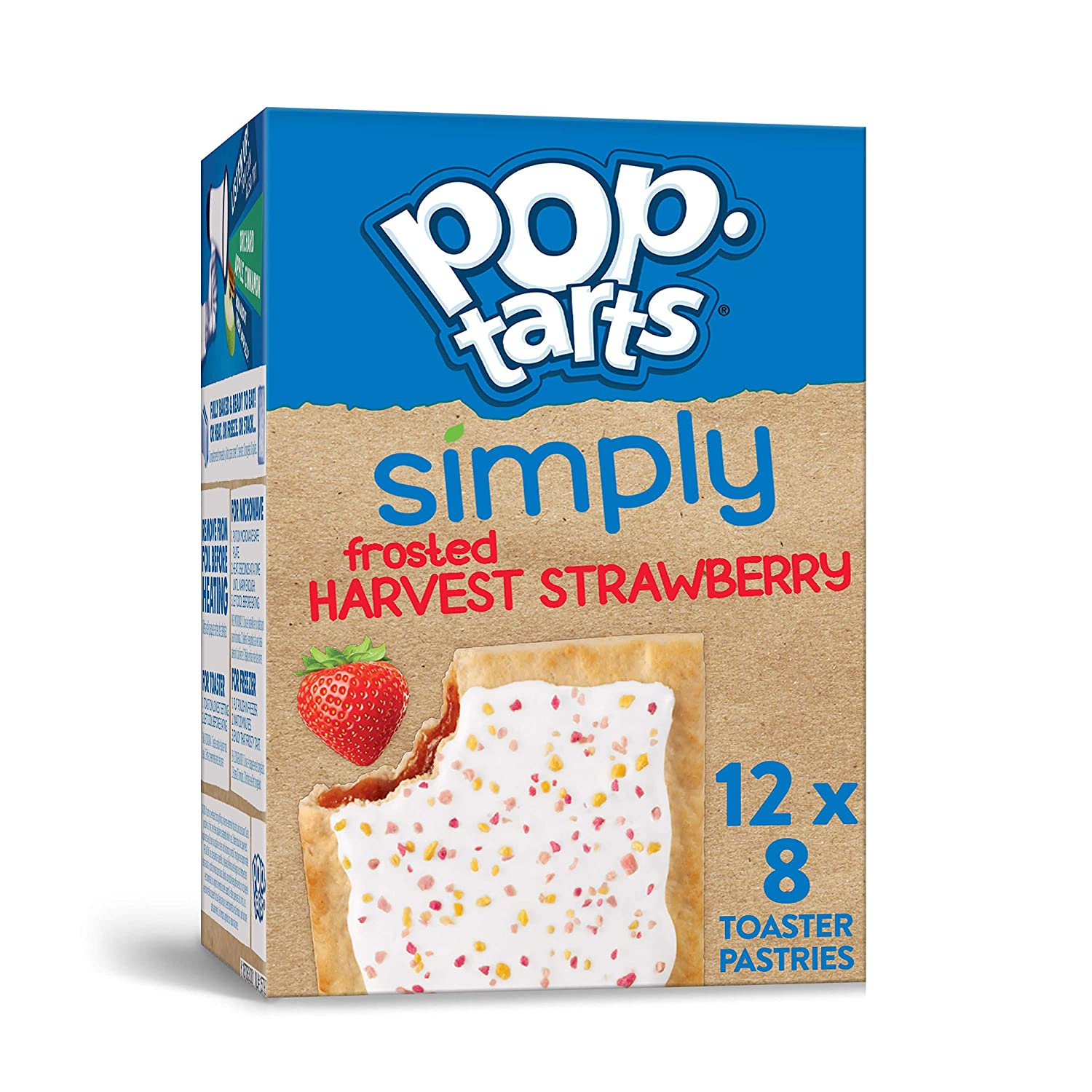 Simply Pop-Tarts, Toaster Pastries, Frosted Harvest Strawberry, Non-GMO Project Verified,13.5 Ounce (Pack of 12)