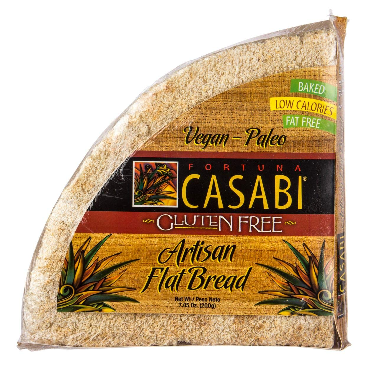 Casabi Casabe Artisan Flatbread (Cassava Bread), Naturally Gluten-Free (GF), Vegan, Paleo, Low Fodmap, AIP Friendly, Made of 100% Yuca Root. 7 oz/pack (2-pack)