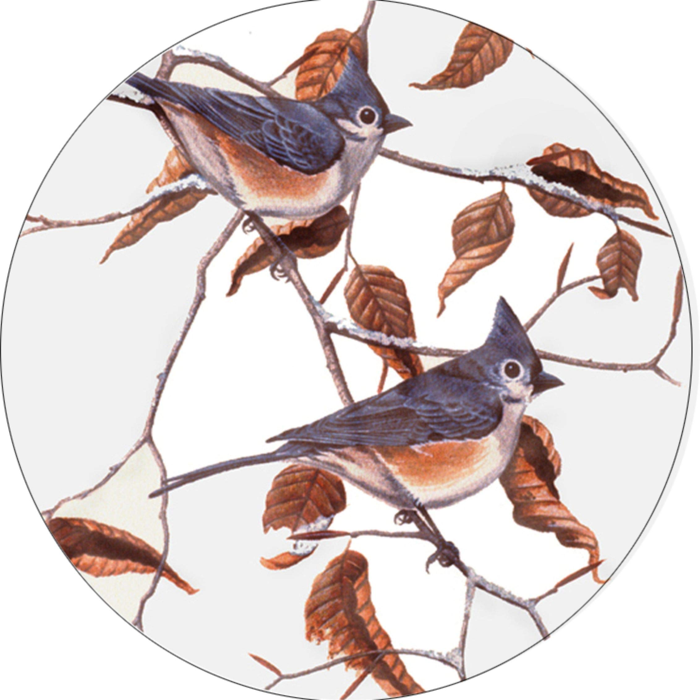 TIRE COVER CENTRAL Bird Tufted Titmice Spare Tire Cover fits Camper, Jeep, RV, Scamp, Trailer(Drop Down Size menu (email, Black) by TIRE COVER CENTRAL