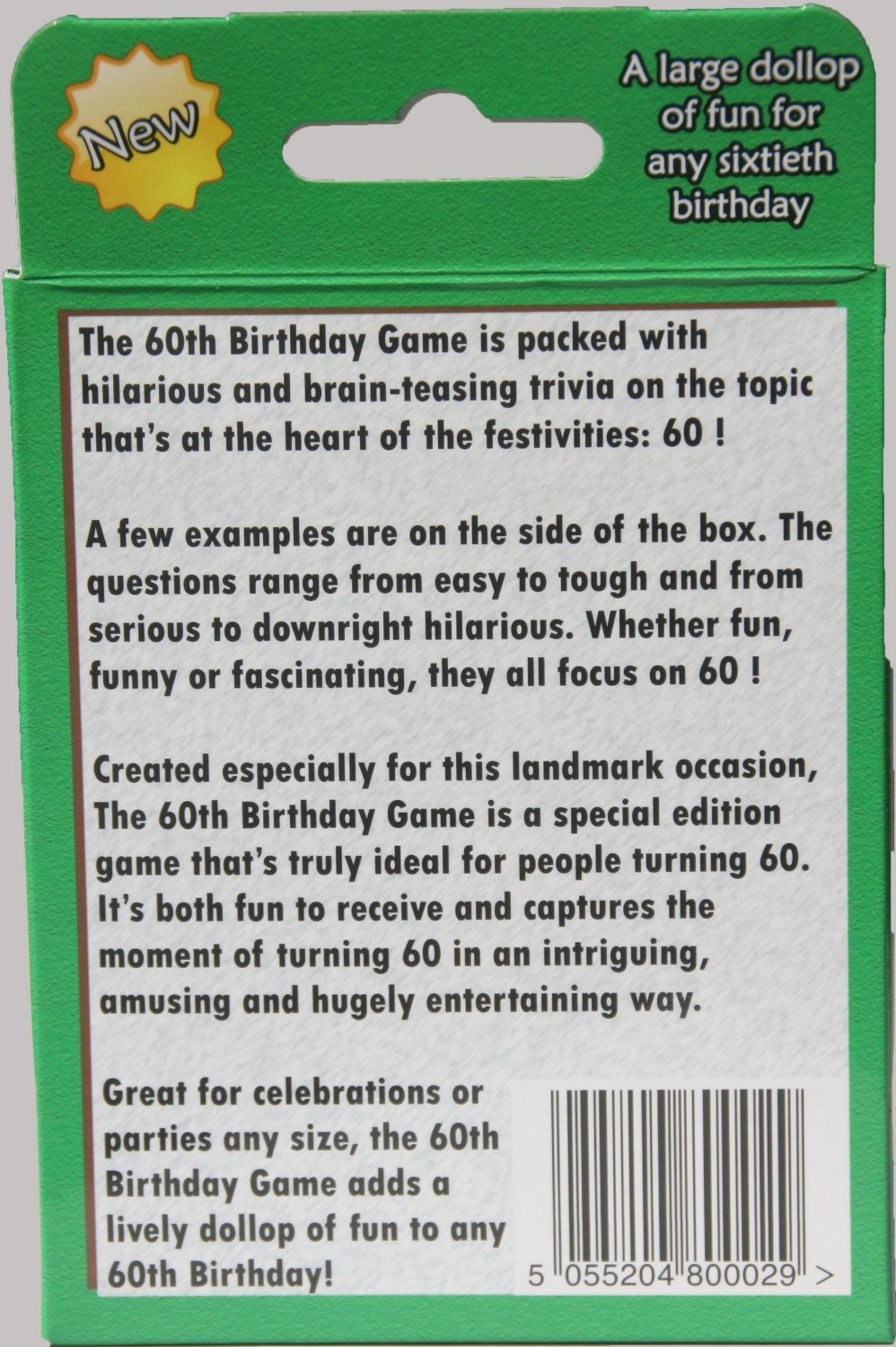 the 60th birthday game a fun gift or present specially for people
