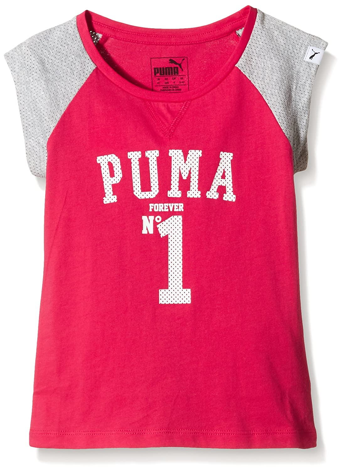 / Camiseta Infantil Style Athletics t/é g 116 Rose Red Puma/  Infantil T-Shirt Style Athletics tee G