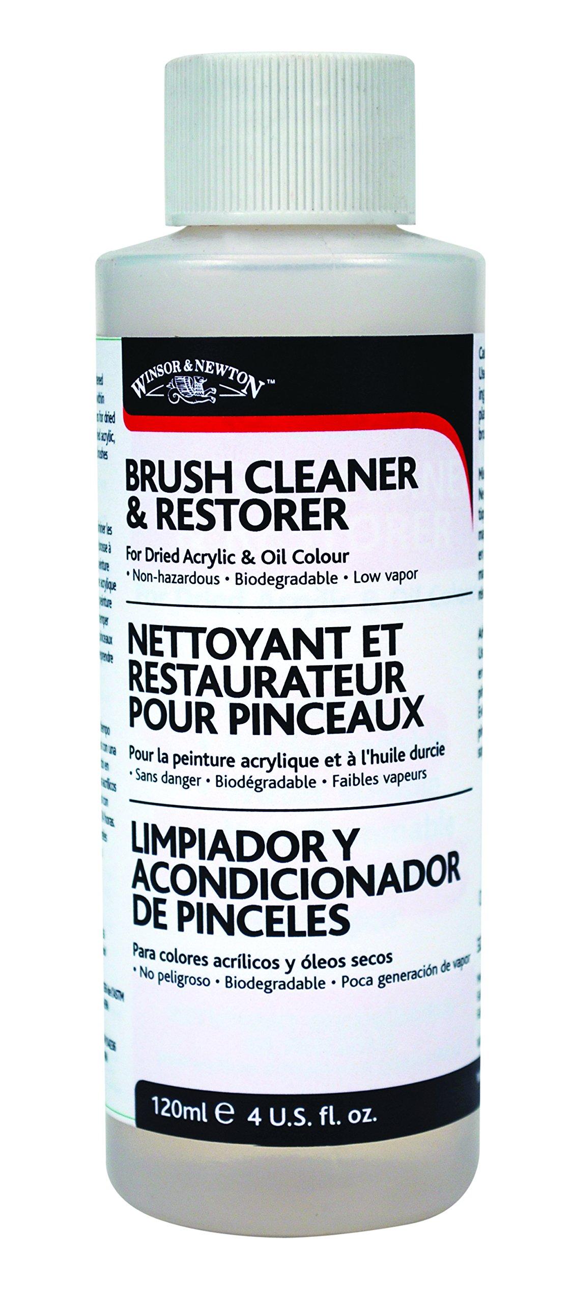Winsor & Newton Brush Cleaner & Restorer - 4 oz. bottle