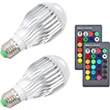 ZSTBT 10W RGB Color Changing light bulbs E26 LED dimmable lamp with Remote Control[2 Pack]