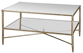 Amazon Com Uttermost Antiqued Gold Leaf Henzler Coffee Table