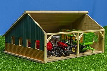 Kids Globe Globo Niños - 610047 - Hangar de Madera para Tractores - 1/50 Escala: Amazon.es: Juguetes y juegos