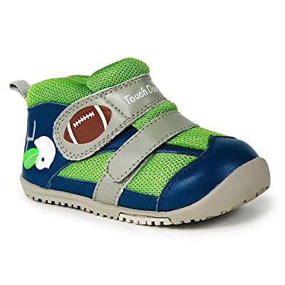 Momo Baby Boys First Walker/Toddler Touchdown Leather Sneaker Shoes