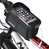 MOREZONE 自転車 スタンド 5.5インチ サドルバッグフロントバッグ 自転車 すまほスタンド スマホホルダー iPhone 7 6/6S/Plus Xperia 対応 携帯ホルダー バイク収納アクセサリー