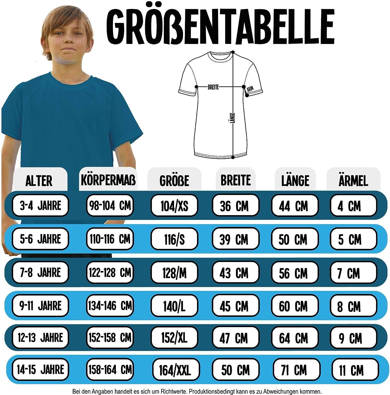 atmungsaktives Laufshirt//Funktionsshirt f/ür M/ädchen und Jungen Dabbendes Skelett mit Basketball Sport Kind Shirtracer