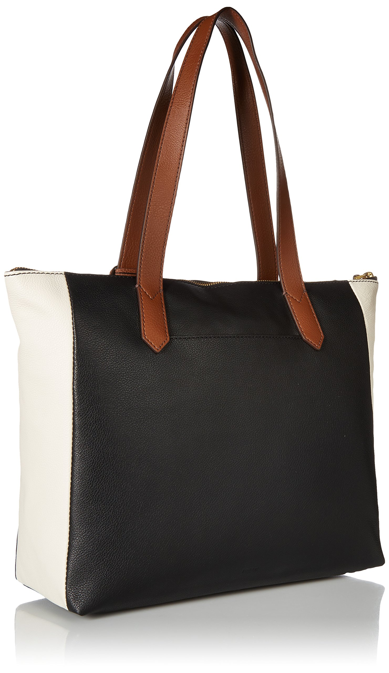 Fossil Fiona E/W Tote Bag, Black/White by Fossil (Image #2)