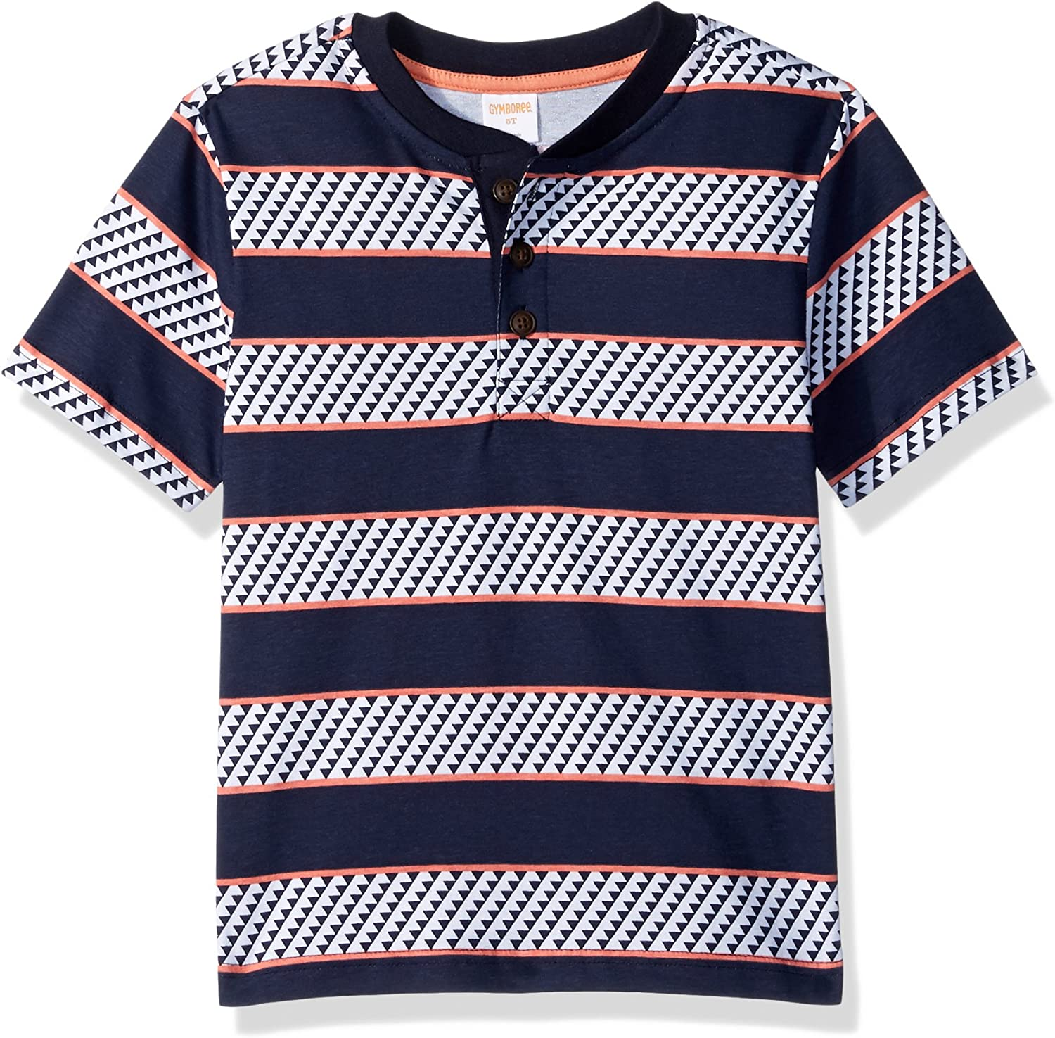 Gymboree Boys' Toddler Short Sleeve Tribal Print Polo Shirt