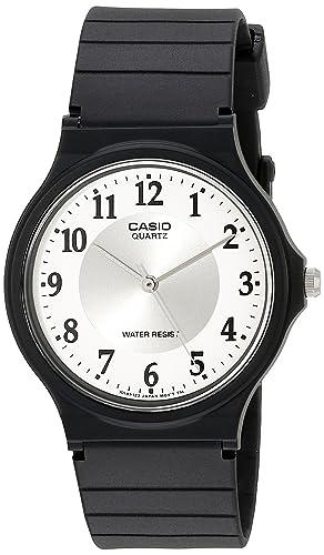 Mq ResinaColor 7b3llef Para 24 Correa Reloj De Hombre Casio Cuarzo Con Negro Analógico SUzVpLMGq