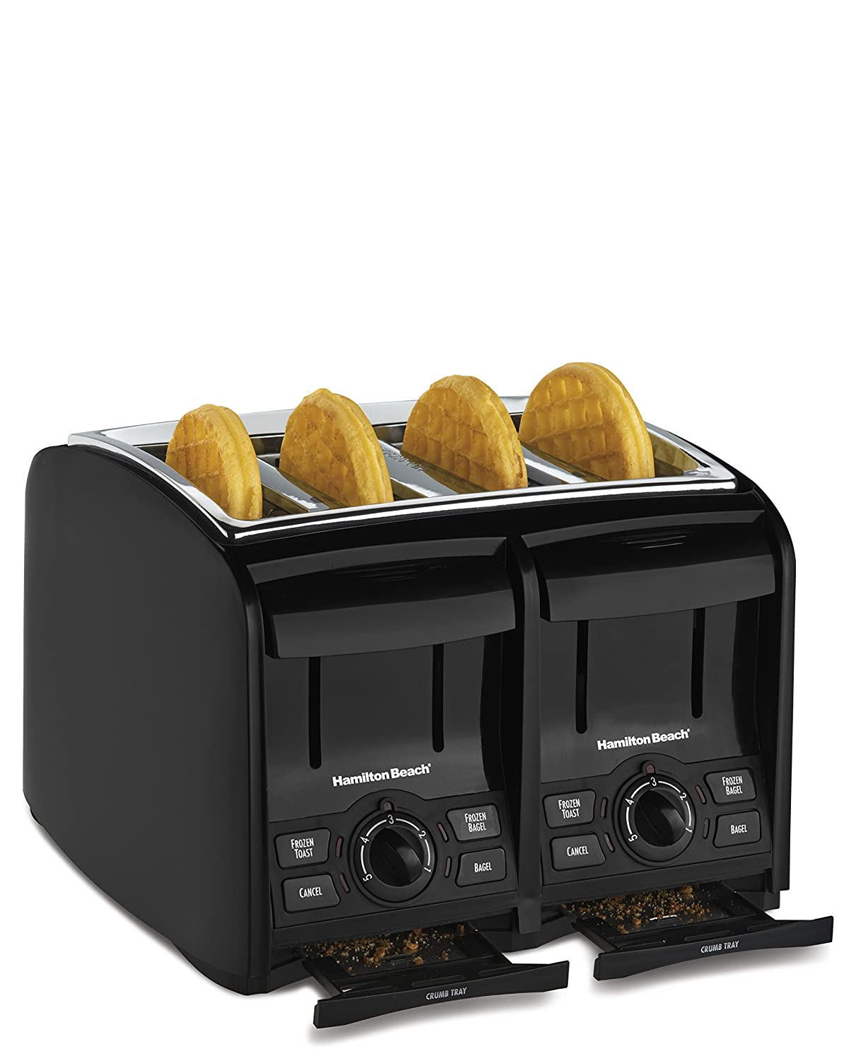 2. Hamilton Beach 4 Slice Cool Touch Toaster (24121)
