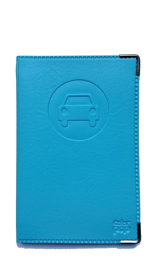 molto carino a447b beaea Porta documenti per auto completo, in simil pelle blu ...