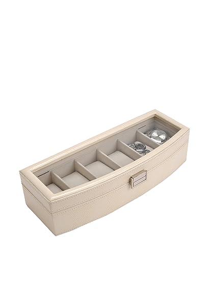 Korb Caja Porta Relojes Curvada Cocodrilo Blanco
